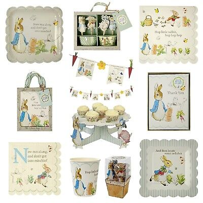 Peter Rabbit Birthday Party, Baby Shower, Easter Tableware & - Easter Birthday