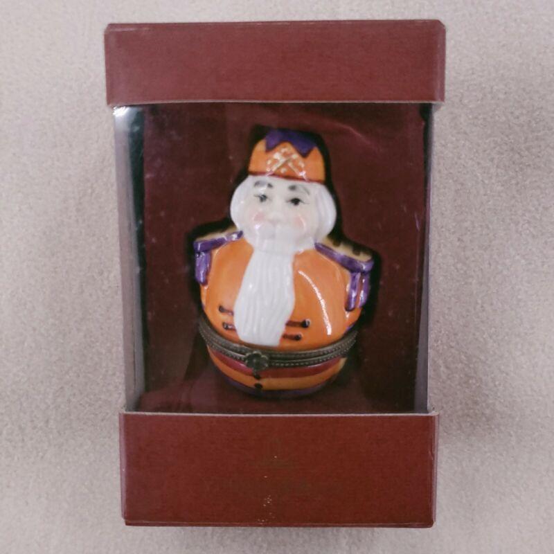 Villeroy & Boch 1748 Nutcracker King Trinket Box Figural Porcelain Germany