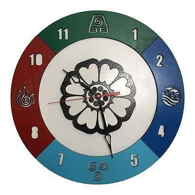 Avatar Last Airbender Clock | 14 in Diam | Handmade from wood | Anime Clock