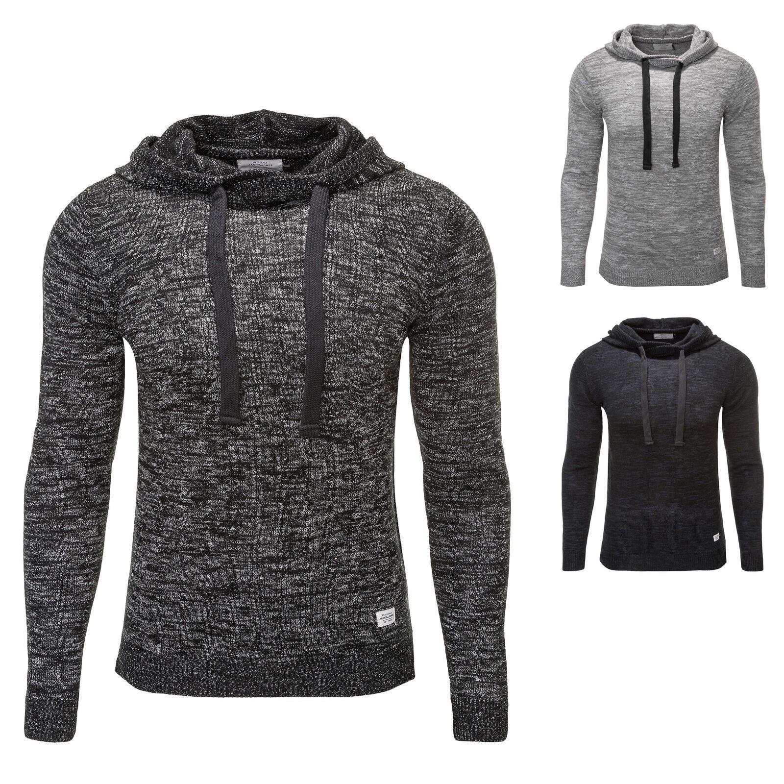 Jack & Jones Herren Hoodie Strickpullover Pullover Sweater Color Mix NEU
