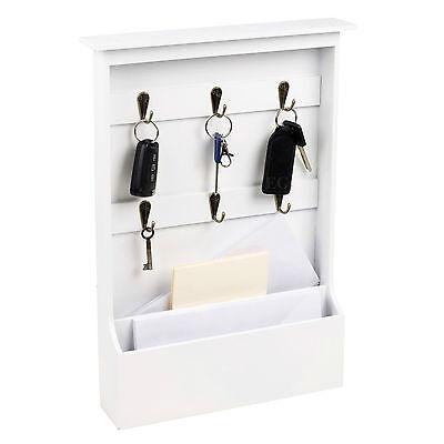 Key Ring And Letters Holder Bills Post Mail Rack Organiser Shabby Chic Design