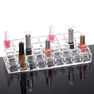36 Acrylic Makeup Lipstick Storage Display Stand Rack Holder Cosmetic Organizer