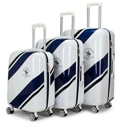 Santa Barbara Polo Racquet Club Ribbon Collection Expandable 3 Piece Luggage Set Collection 3 Piece Luggage Set