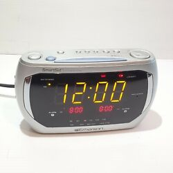 Emerson Research CKS3020 Smartset Dual Alarm Clock AM/FM Radio LED Large Display