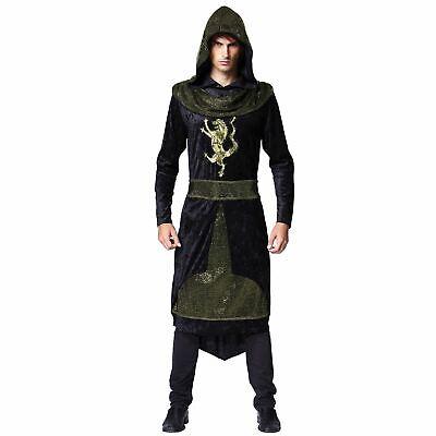 Jungen Kapuzen-Bademantel, mittelalterlichen Fürsten, Fancy-Dress Kostüm #DE