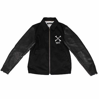 NWT CHRISTIAN DADA Black Tattoo Emboss Leather Exchange Vietnam Jacket 44 $3025