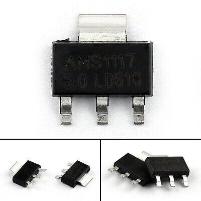 20pcs Ams1117-5.0 Ams1117 Lm1117 5v 1a Sot-223 Voltage Regulator Ic Chip Usa