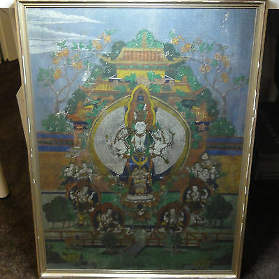 Thangka malerei - Buddha, Tibet, Tibetan - Bild Länge ca. 72 cm