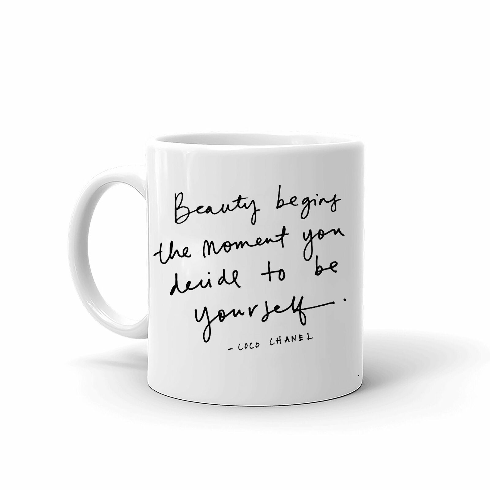 Be Yourself Quote Unique Stylish Motivational Coffee Teamug 11oz - $13.99