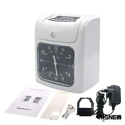 Time Card Machine Employee Time Clock Time Card Clock W 50 Time Cards 2 Keys