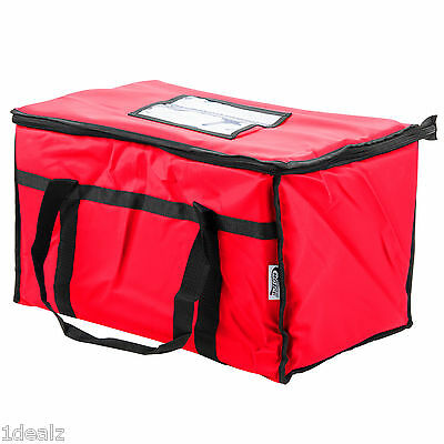 Red Industrial Nylon Insulated Food Delivery Bag Chafer Pan Carrier 10 Rebate