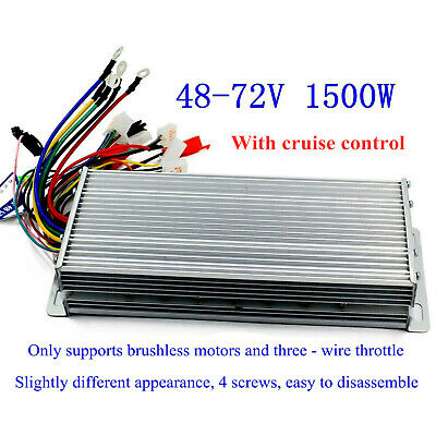Us 48-72v 1500w E-bike Brushless Dc Motor Speed Controller With Cruise Lines