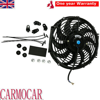 12 INCH UNIVERSAL RADIATOR COOLING FAN ELECTRIC PUSH PULL CURVED BLADE 80W