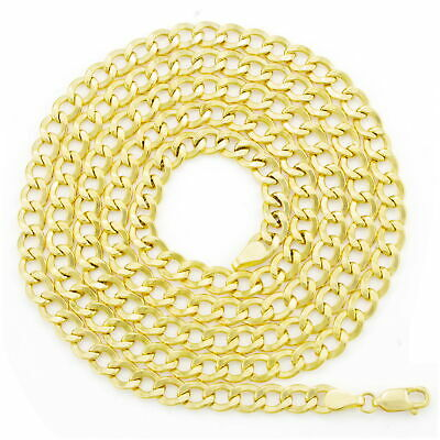 """10K Real Yellow Gold 5.5mm Curb Link Cuban Chain Necklace Mens Womens 18""""- 30"""" 4"""