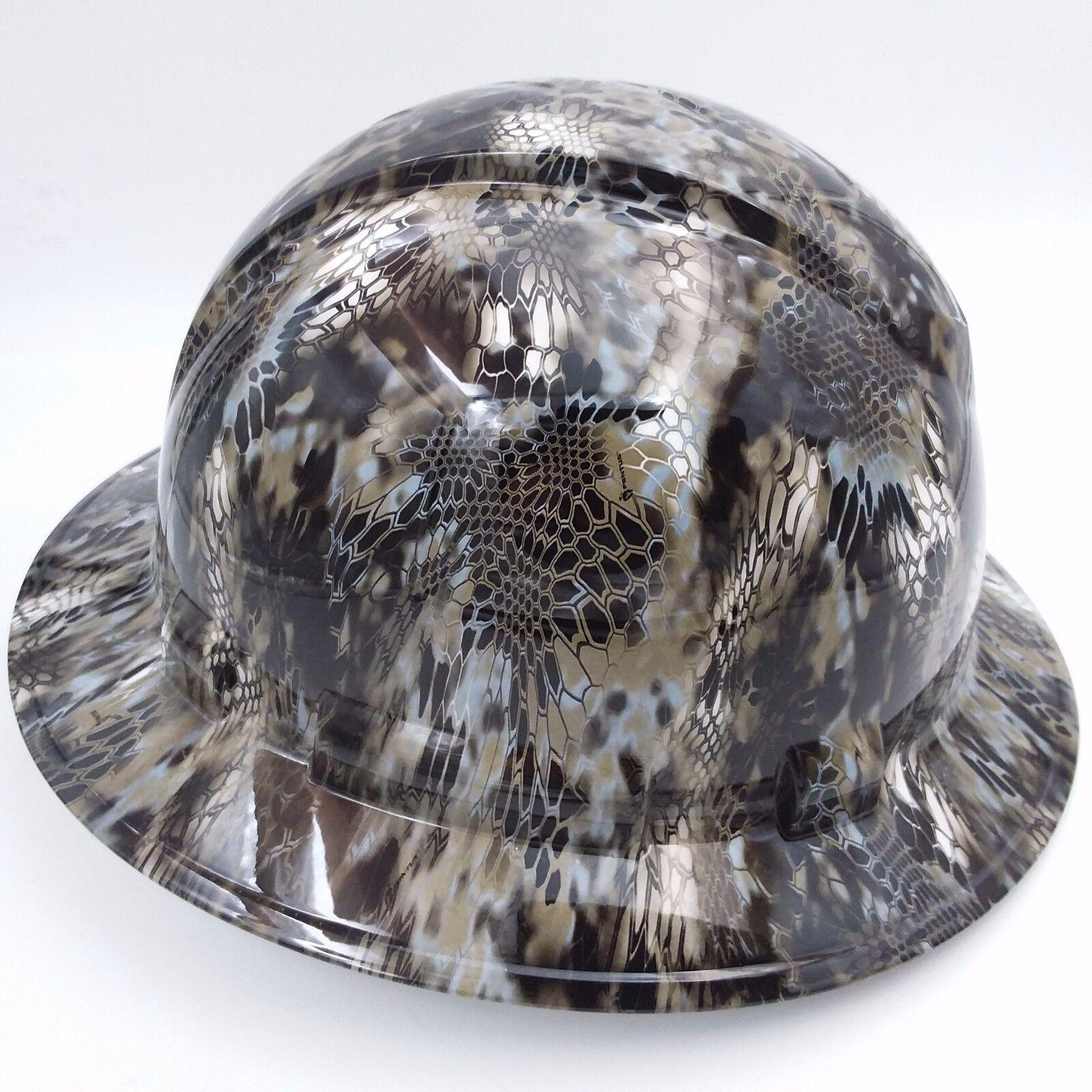Hard Hat FULL BRIM custom hydro dipped , OSHA approved KRYPTEK NEPTUNE CAMO NEW 2