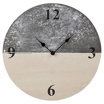 30cm Slate Farmhouse Shabby Chic Wood Wall Clock Time Home Decor Furniture