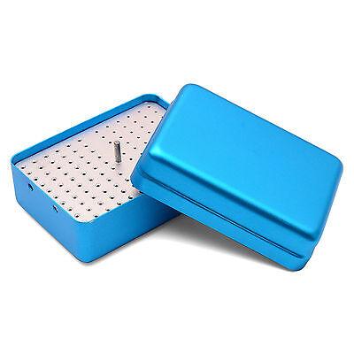 120 Holes Dental Endo Box Fg Burs Holder Autoclave Disinfection Box Blue B006d