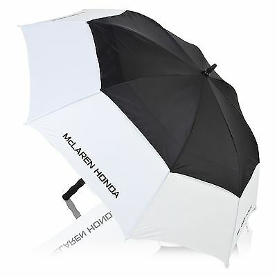 McLaren Honda Team Logo Golf Umbrella Black White Durable Lightweight Accessory