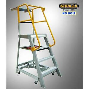 Gorilla Aluminium Ladder 1.2m 200kg Young Young Area Preview
