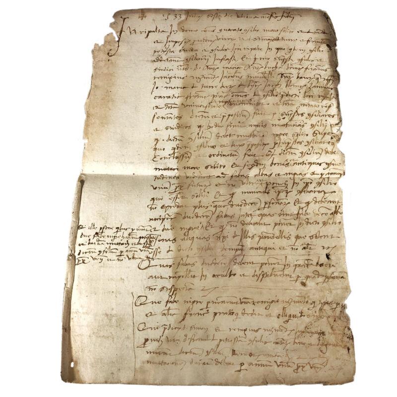 RARE Authentic Late Medieval Renaissance Manuscript - Ca. 1533 Latin - European
