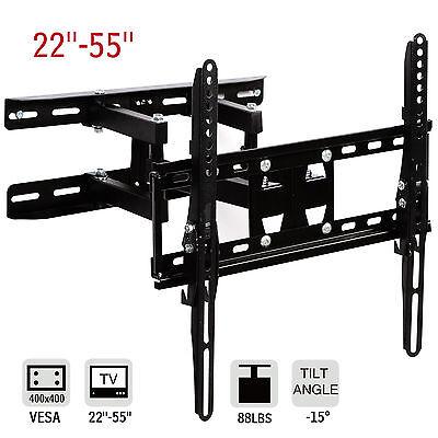 """Dakavia 22""""-55""""LCD LED Swivel TV Wall Mount Full Motion Plasma Tilt Bracket"""