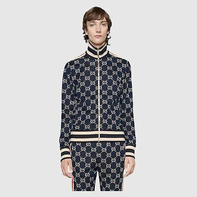 100% Authentic GUCCI GG Jacquard Track Jacket Size L NEW $1980 Jacquard Zip Jacket
