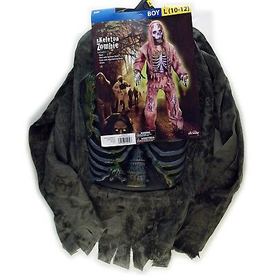Fun World Boy Skeleton Zombie Costume Size Large 10/12 NIP
