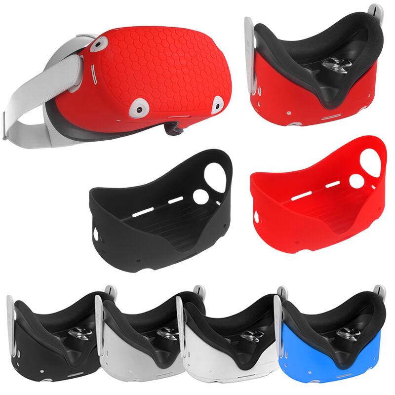 Silicone Sleeve Protective Case Body Cover Shell for OculusQuest2 VR Glasses