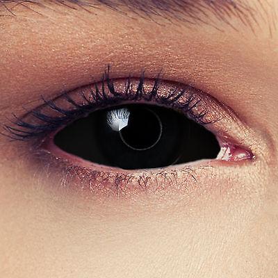 """Schwarze 22mm Full Sclera Larp Kontaktlinsen für Halloween Kostüm """"Black Witch"""""""