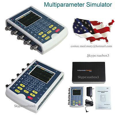 Contec Ms400 Multi-parameter Patient Simulator Ecg Simulator Usa Ship New