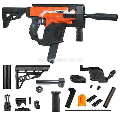 Worker MOD Model A Kriss Vector Imitation Kit Combo 13 Items for Nerf STRYFE Toy