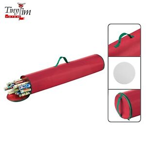Gentil Elf Stor Premium Christmas 40 Inch Wrapping Paper Storage Tube With Handle
