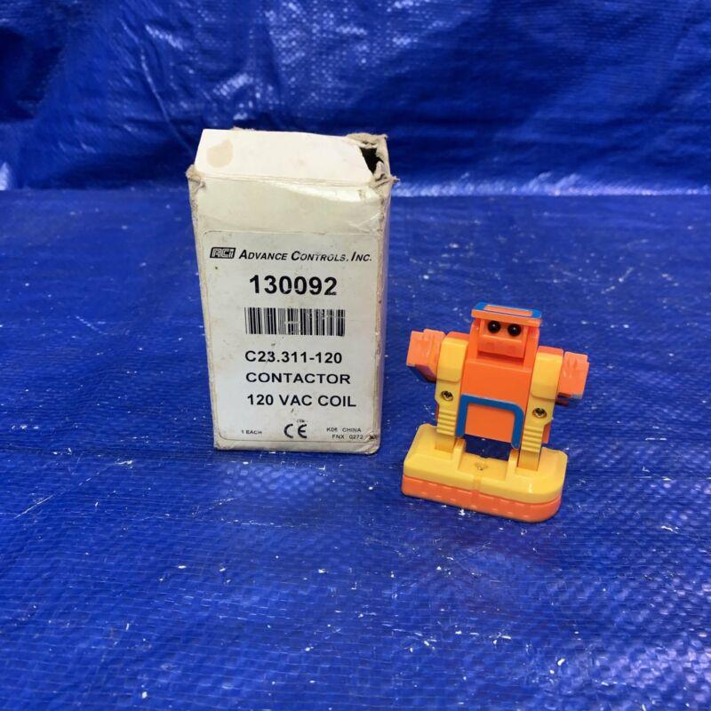 Advance Controls, Inc. 130092 Contactor, C23.311-120, 120 VAC Coil