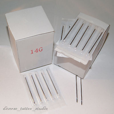 10 Body Piercing Needles 5ea 16G, 18G Gauge Tri Bevel Pierce Needle