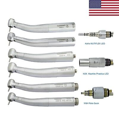 Coxo Dental Fiber Optic Handpiece Turbine Kavo Multiflex Nsk Phatelus Wh Rq Led