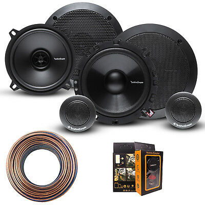 "R165-S Rockford Fosgate 6.5"" Speaker + R1525X2 5.25"" Speaker w/ FREE Accessories"