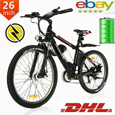 Bicicleta de Montaña Eléctrica 350W 26'' Bicicleta Eléctrica con 36V Batería UPS