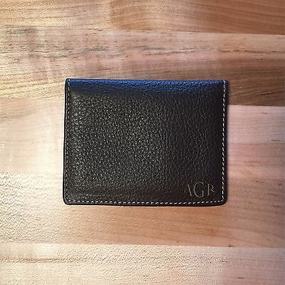 Personalized Genuine Leather Credit Card Wallet   Brown   Engraved In Usa