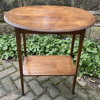 Antique Oval Window/Display Table Inlaid - Shop Fittings