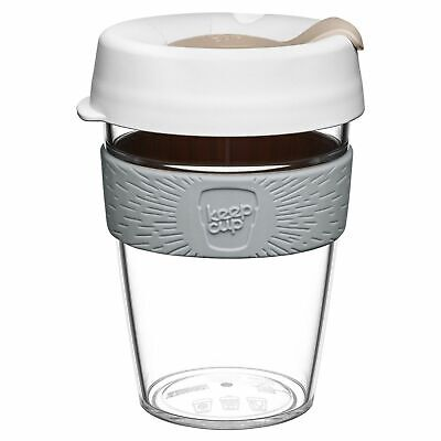 KeepCup Original Clear Edition Reusuable Plastic Coffee Cup Travel Mug340ml 12oz