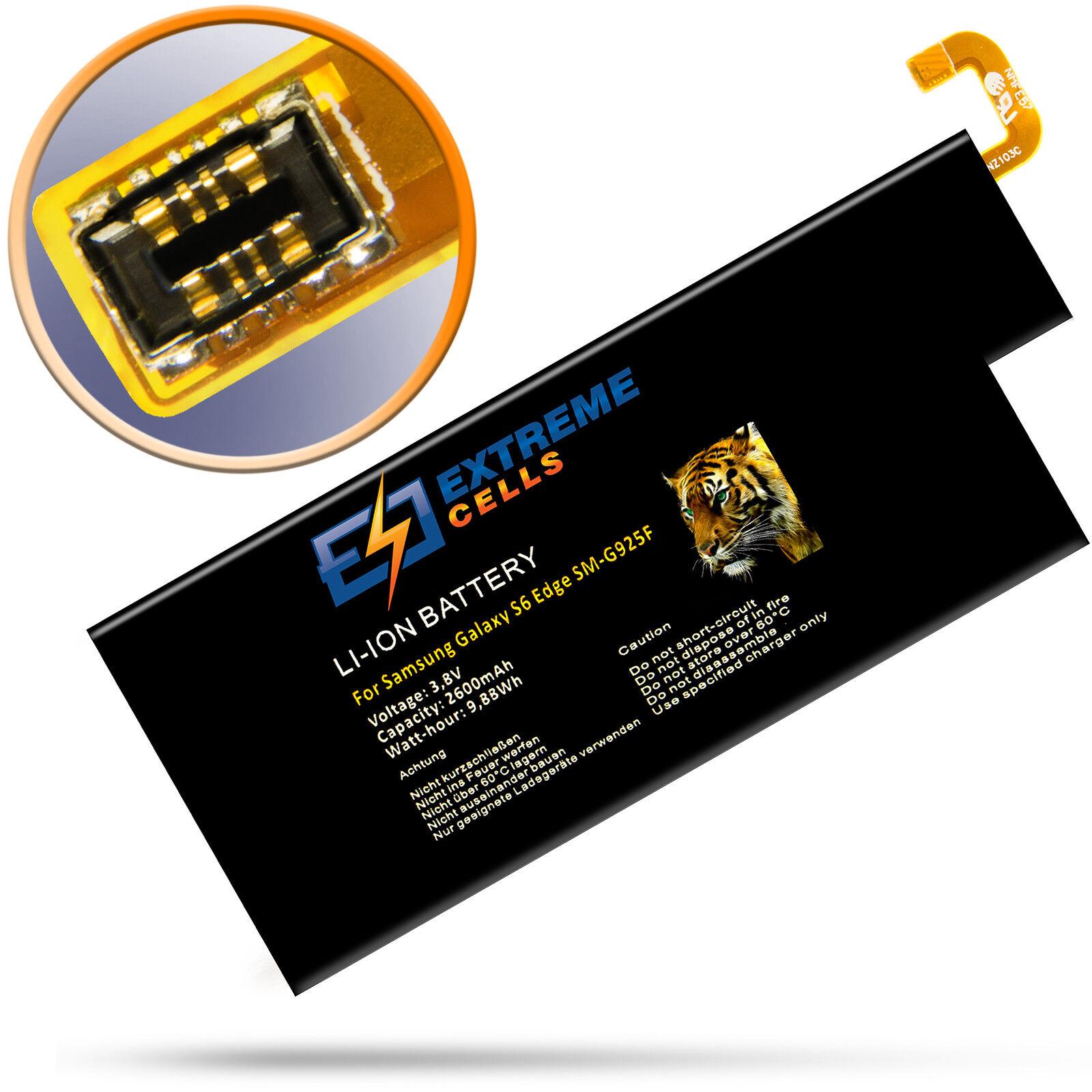 Extremecells Akku für Samsung Galaxy S6 Edge SM-G925F EB-BG925ABE ...
