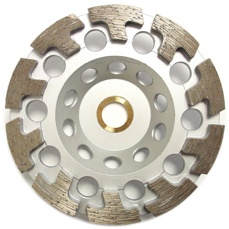 "5"" Premium Diamond Cup Wheel T-segment Grinding Concrete Stone 7/8""-5/8"" Arbor"