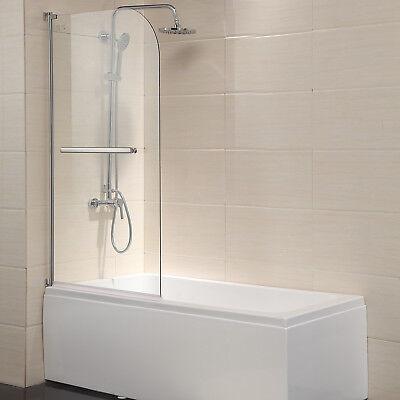 """Mecor 55""""X31"""" Bathtub Shower Door Frameless 1/4'' Free Glass Chrome Finish"""