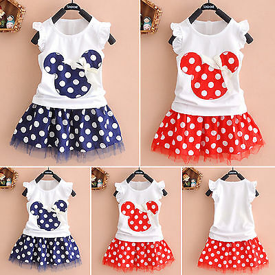 Summer Minnie Mouse Toddler Baby Girl Party Dress Sundress Casual Child Clothes - Party Girl Clothes