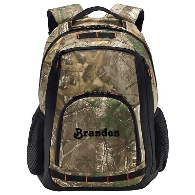 Personalized Camo Backpack Laptop Computer College School Book Bag Gym Hiking