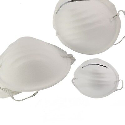 10 x DUST masks disposable moulded shell type elasticated face masks