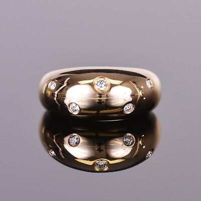 Diamond Bubbles Collection Ring set in 14k High Polished Yellow -