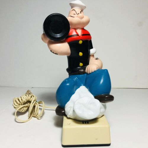 Vintage Popeye The Sailor Man Telephone Push Button Dial Pad 1982 RARE
