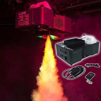 American DJ Fog Fury Jett 700W Vertical Fog Machine w/12 LED+DMX+Wireless Remote