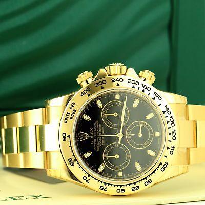 Rolex Men's Daytona 116508 18k Yellow Gold 40mm - New